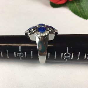 Kaki Jo's Closet Jewelry - Cracked Simulated Blue Sapphire Cocktail Ring